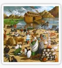 Noah and the Ark: Original Mural Painting, Bible Scene Sticker