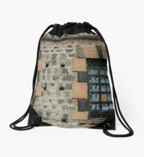 Windows With Steel Grates Drawstring Bag