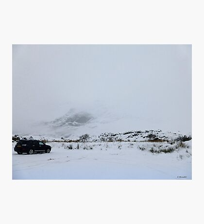Snow and Cloud on Glencoe, Scotland Photographic Print
