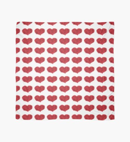 Glowing Red Heart Scarf