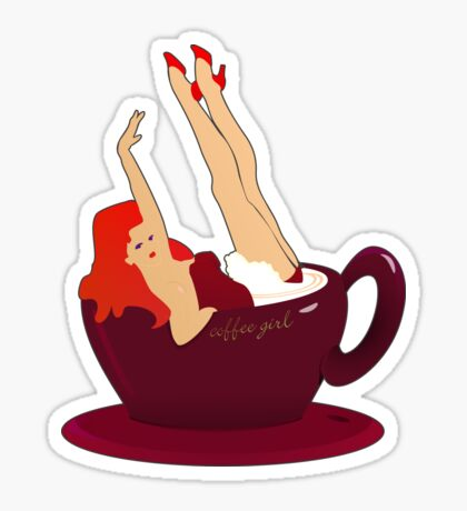 Coffee Girl VRS2 Sticker
