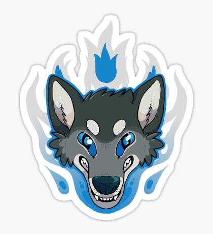Fiery Wolf Sticker