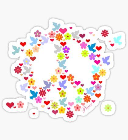 Flowerpower Peace VRS2 Sticker