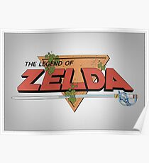 The Legend of Zelda - Classic Logo (Posterized) Poster