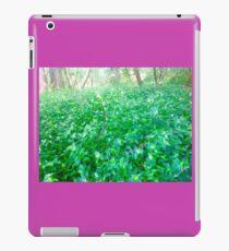 Flower upon shrubs base  iPad Case/Skin