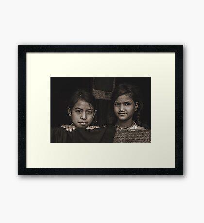 Facing the Stranger Framed Print