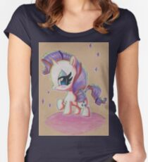 Rarity My Little Pony Women's Fitted Scoop T-Shirt