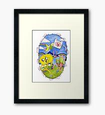 AdventureTime finn and jake Framed Print