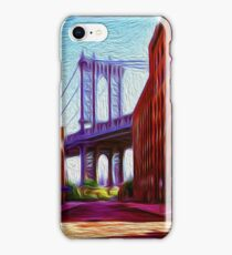 Down under Manhattan Bridge overpass iPhone Case/Skin