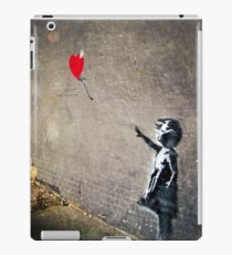 Banksy's Girl with a Red Balloon II iPad Case/Skin