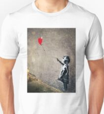 Banksy's Girl with a Red Balloon II Unisex T-Shirt
