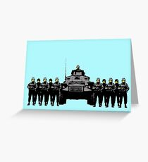Smiley Riot Greeting Card