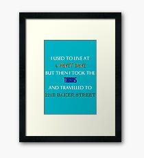British mashup Framed Print
