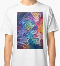 Rainbow Flow Abstraction Classic T-Shirt