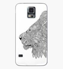 Lion doodle silhouette  Case/Skin for Samsung Galaxy
