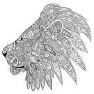 Lion doodle silhouette  by Rhett J.