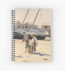 The Basket of Clams (wc), Winslow Homer,  Spiral Notebook