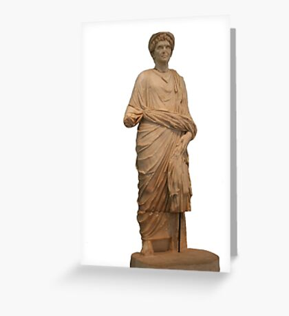 Statue of A Roman Priest Wearing A Toga Greeting Card