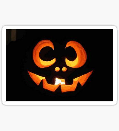 Vector Image of Friendly Halloween Pumpkin Sticker