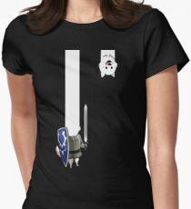 Undertale Lesser dog Women's Fitted T-Shirt