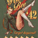 Killer Bee Pin Up by ninjaink