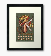 Killer Bee Pin Up Framed Print
