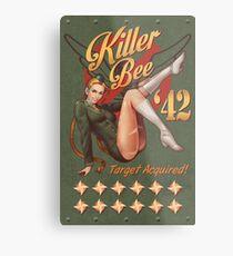 Killer Bee Pin Up Metal Print