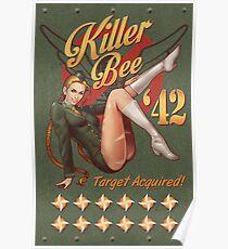 Killer Bee Pin Up Poster