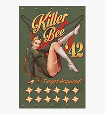 Killer Bee Pin Up Photographic Print