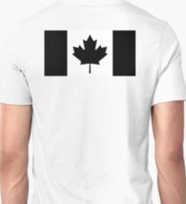CANADA, CANADIAN, Canadian Flag, National Flag of Canada, Funeral, Mourning, A Mari Usque Ad Mare, Pure & Simple, in BLACK T-Shirt