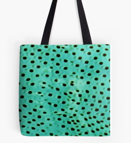 Polka mint Tote Bag