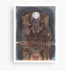 Laeroth, the Dark Knight Canvas Print