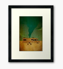 breaking bad bus Framed Print
