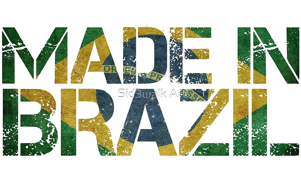 Brazil Brazilian Flag by Sid3walk Art
