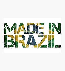 Brazil Brazilian Flag Photographic Print
