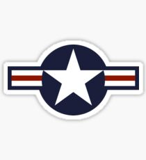 AIR FORCE, AMERICAN, USAF, Roundel, United States Air Force, aircraft, United States Navy, United States Marine Corps Sticker