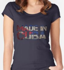 Cuba Cuban Flag Women's Fitted Scoop T-Shirt