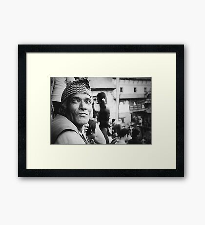 Portrait of a Face in the Crowd Framed Print