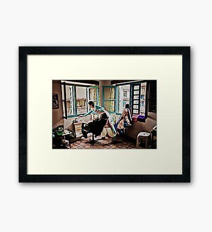A Day in the Life in Kathmandu Framed Print