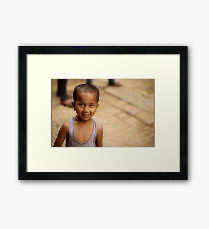 Sweet Little Guy Framed Print