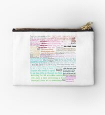 The Office Quotes Zipper Pouch
