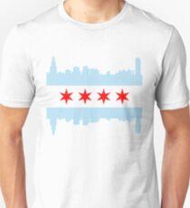 Chicago Flagge Skyline Unisex T-Shirt