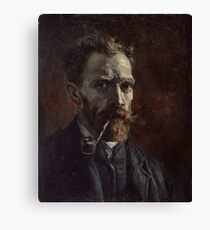Vincent Van Gogh - Self-portrait with pipe, September 1886 - November 1886 Canvas Print