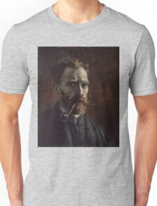 Vincent Van Gogh - Self-portrait with pipe, September 1886 - November 1886 Unisex T-Shirt