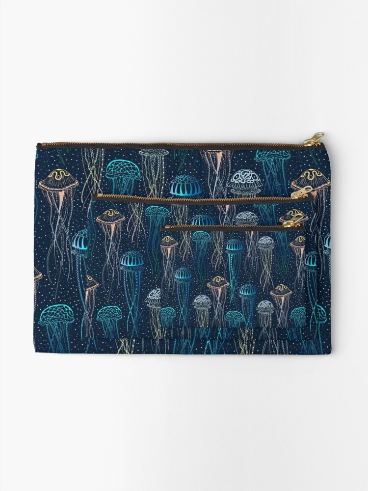 Alternate view of Jellyfish Zipper Pouch