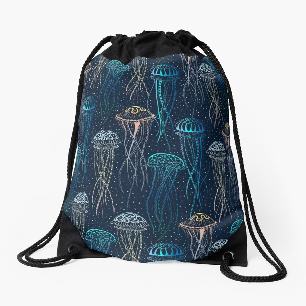 Jellyfish Drawstring Bag