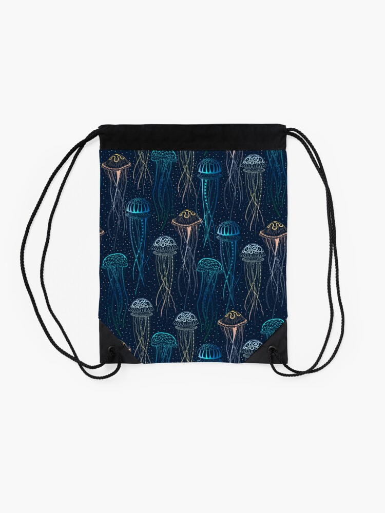 Alternate view of Jellyfish Drawstring Bag