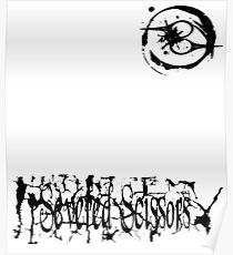 Small Severed Scissors Logo Poster