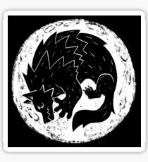 Woodcut Werewolf - White Moon Sticker
