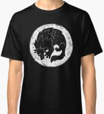 Woodcut Werewolf - White Moon Classic T-Shirt